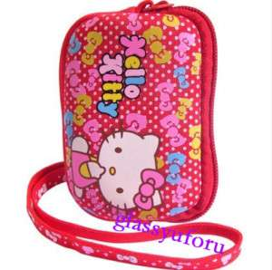 New Hello Kitty Digital Camera phone case pouch bag Red