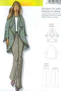 Easy Plus Size Women's Jacket & Pants Sewing Pattern