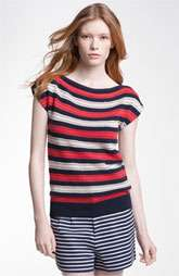New Markdown MARC BY MARC JACOBS Kay Stripe Cap Sleeve Sweater Was