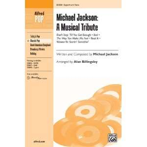 Michael Jackson A Musical Tribute Choral Octavo Choir Written and