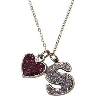 Silver Tone Initial S Pendant Personalized Gifts