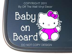 Hello Kitty BABY ON BOARD Vinyl Car Decal