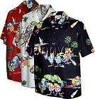 NEW Parrots Jungle Birds Hawaiian Shirt, Black, L items in Bennys