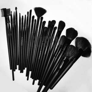 Black 24in1 Pro Cosmetic Makeup Brush Set Kit+Case bag
