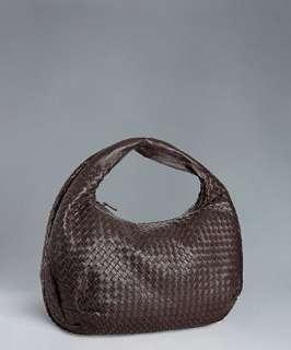 Bottega Veneta brown woven leather large hobo