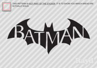 2x) Batman Arkham City Sticker Decal Die Cut #2