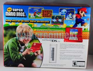 New Super Mario Bros. Special Edition RED DS Lite NEW