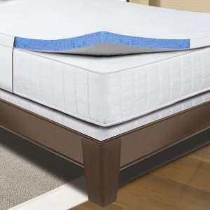 Sleep Innovations Gel Foam Mattress Topper   White