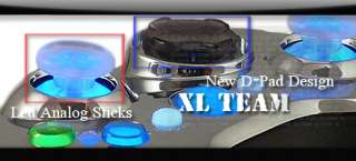 XBOX 360 MODDED RAPID FIRE CONTROLLER XCM CHROME BLUE