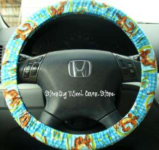 Car Truck Universal Grip Steering Wheel Cover Blue Tigger The Tiger