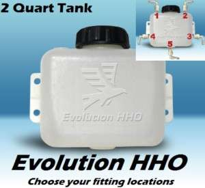 Quart HHO Dry Cell reservoir bubbler tank kit