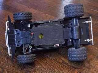 Vintage TYCO BANDIT Turbo 9.6V R/C Black Nissan Hardbody Truck w