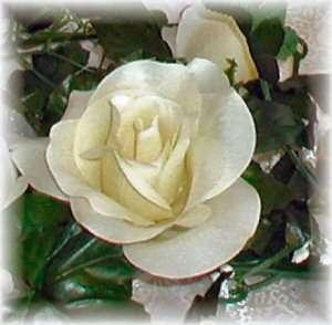 CREAM IVORY Rose Garland ~ Silk Wedding Flowers ~ Arch Gazebo