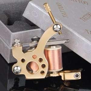 Handmade 24K Gold plated Tattoo Tattooing Supply Machine Equipment