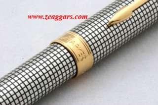 Parker Sonnet Sterling Silver Cisele GT Ballpoint Pen   New