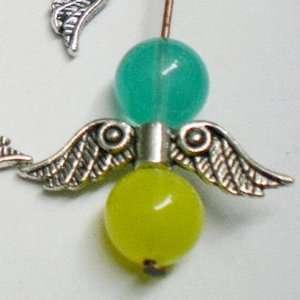 30pcs Tibetan Silver Angel Wing Charm Beads 20mm(B) ~Jewelry Findings~
