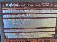 60 HP* NEW YORK BLOWER SERIES 30 GI FAN *10,000 CFM*