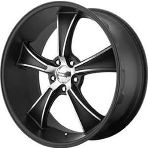 American Racing Vintage Boulevard 17x8 Black Wheel / Rim 5x4.75 with a